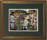 Baptism of Jesus by Jason Jenicke Matted - Gold Framed Art
