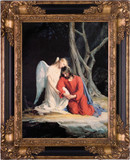 Gethsemane Canvas - Black and Gold Museum Framed Art