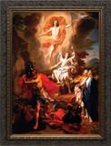 Resurrection of Christ by Coypel  - Ornate Dark Framed Canvas