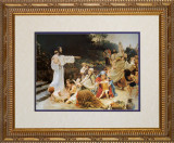 Let the Children Come - Matted Ornate Gold Framed Art