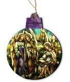 Tiffany Angels Wood Ornament