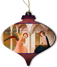 Annunciation Wood Ornament