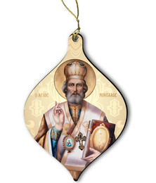 St. Nicholas Wood Ornament