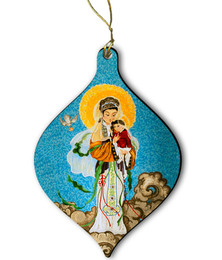 Our Lady of China Wood Ornament