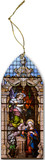 Annunciation Stained Glass Wood Ornament