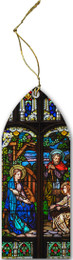 Holy Family (Older) Stained Glass Wood Ornament