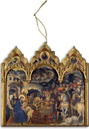Adoration of the Magi Triptych Wood Ornament