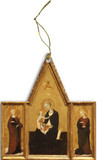 Madonna of Humility Triptych Wood Ornament