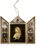 The Virgin, After Sassoferrato Triptych Wood Ornament