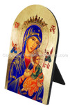 The Virgin of Passion (Our Lady of Perpetual Help) Arched Desk Plaque