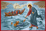 Jesus Saves Peter Icon Wall Plaque