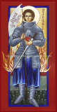 St. Joan of Arc Icon Wall Plaque (8x16)