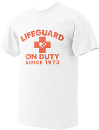 Lifeguard on Duty since 1973 2nds Quality T-shirt