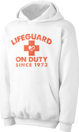 Lifeguard on Duty since 1973 2nds Quality Hoodie