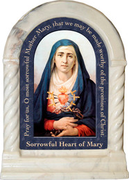 Our Lady of Sorrows Prayer Desk Shrine