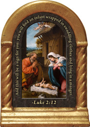 Nativity Prayer Desk Shrine