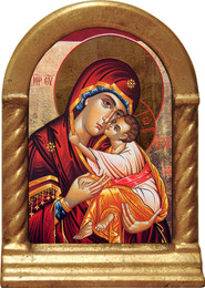 Icon of Mary Desk Shrine