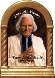 St. John Vianney Desk Shrine