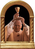 St. John Paul II Raising Chalice Desk Shrine