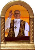 Pope Francis Giving Blessing Desk Shrine