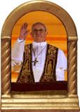 Pope Francis Giving Blessing Desk Shrine