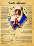 Spanish How to Pray the Rosary Poster