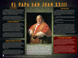 Spanish Pope Saint John XXIII Explained Poster