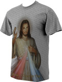 Divine Mercy Graphic Poly T Shirt