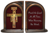 San Damiano Crucifix Quote Bookends