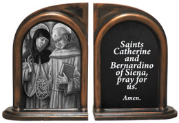 Sts. Catherine and Bernardino Bookends