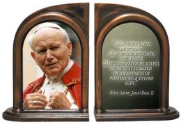 St. John Paul II Addressing the Faithful Bookends