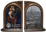 St. Christopher Air Force Bookends
