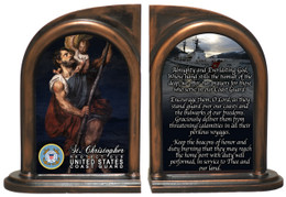 St. Christopher Coast Guard Bookends