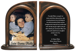 St. Gianna Doctor's Prayer Bookends