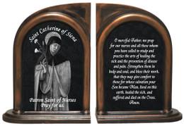 St. Catherine of Siena Nurse's Prayer Bookends