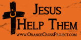 Orange Cross Project Jesus Help Them Martyr Solidarity Bumper Sticker