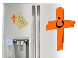 Orange Cross Project Martyr Solidarity Magnet