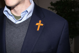 Orange Cross Project Martyr Solidarity Lapel Pin