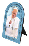 Pope Francis Thumbs Up with Quote Arched Desk Plaque