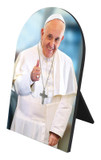 Pope Francis Thumbs Up Arched Desk Plaque