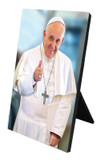 Pope Francis Thumbs Up Desk Plaque