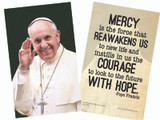 Pope Francis Waving Holy Card