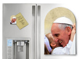 Pope Francis with Child Arched Magnet