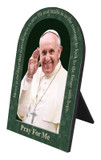 Pope Francis Waving with Quote Arched Desk Plaque