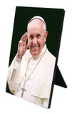 Pope Francis Waving Desk Plaque