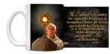 Pope Francis with Monstrance Mug