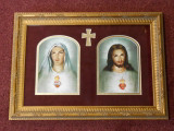 Sacred & Immaculate Hearts Gold Framed Art - LIMITED EDITION