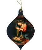 Madonna Worshiping the Child by Correggio Wood Ornament