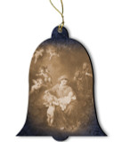 Holy Family German Wood Ornament