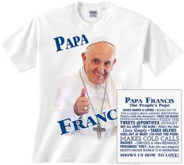 Papa Francis Children's T-shirt Color